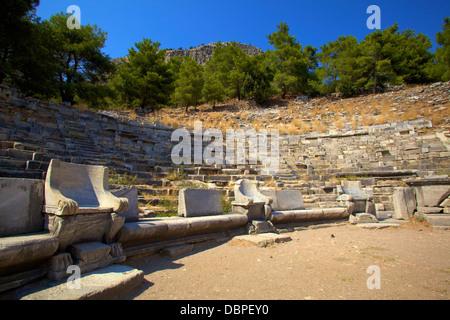 Theatre, Ancient City of Priene, Anatolia, Turkey, Asia Minor, Eurasia - Stock Photo
