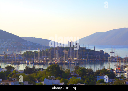 Castle of St. Peter, Bodrum city, Muğla Province, Turkey with Thomson Stock P...