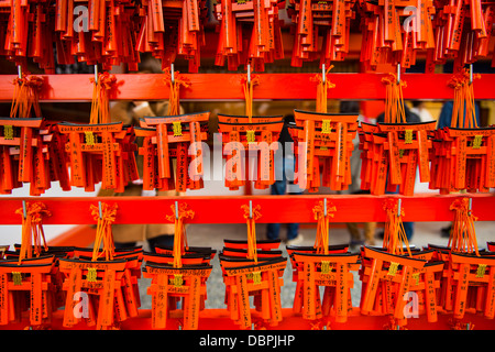 Souvenirs of the Endless Red Gates of Kyoto's Fushimi Inari Shrine, Kyoto, Japan, Asia - Stock Photo
