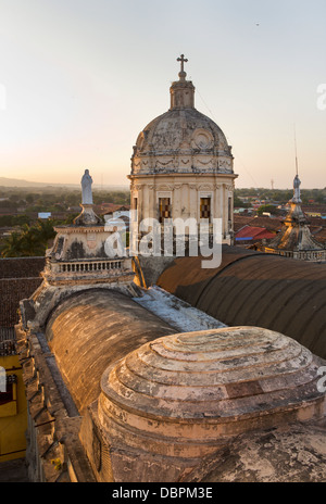 View from the Merced bell tower in Granada, Nicaragua, Central America - Stock Photo