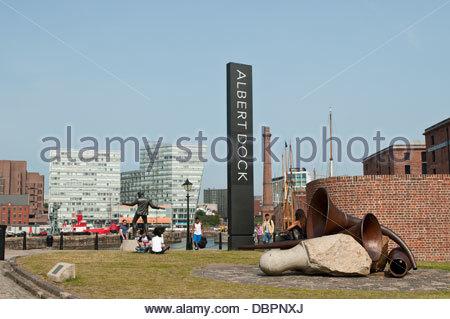 Albert Dock, Liverpool, UK - Stock Photo