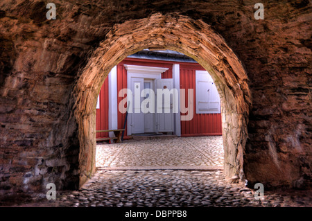 Drottningskaers kastell on Aspoe in Sweden - Stock Photo