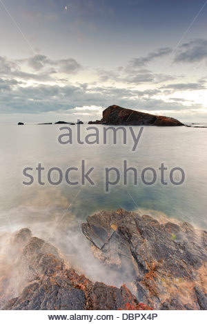 Sunrise at Calaflores, In Cabo de Palos, Murcia, Spain - Stock Photo