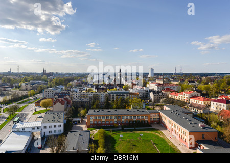 Aerial view of Bialystok town in Poland - Stock Photo