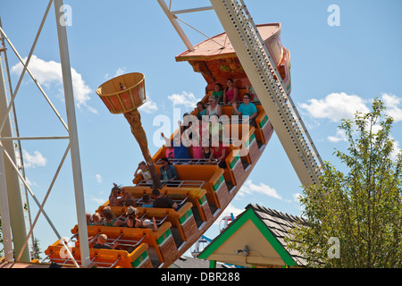 Calaway Park, Calgary, Alberta. - Stock Photo