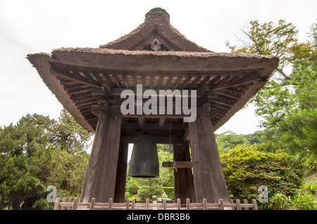 Bell in Kenchoji temple,Japan - Stock Photo