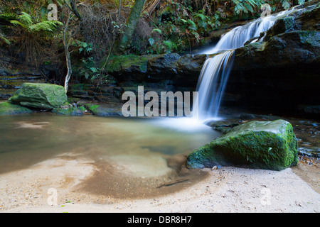 Leura cascades in the Blue Mountains, New South Wales, Australia - Stock Photo