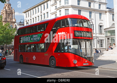 A new number 24 red london double decker bus - Stock Photo