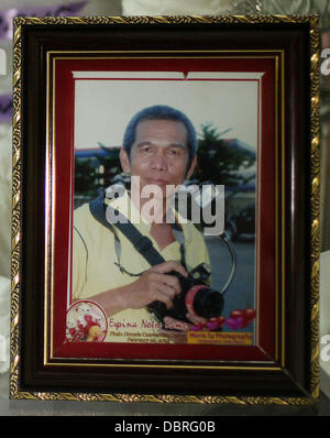 General Santos city, Southern Philippines. 3rd August, 2013. A photo frame of Mario Sy, a freelance photographer - Stock Photo