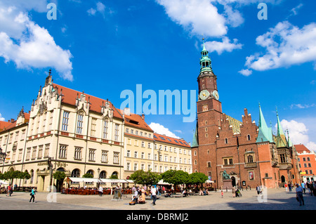Town Hall, Wroclaw, Poland - Stock Photo