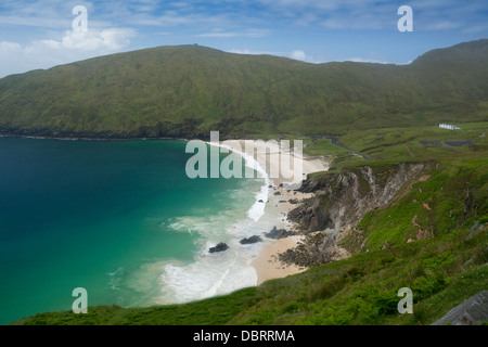 Keem Bay Remote beach in west of Achill Island County Mayo Connaught Connacht Eire Republic of Ireland - Stock Photo