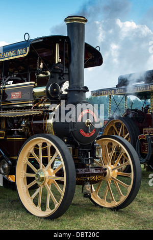 Showmans Traction Engine 'Foremost' at an English steam fair. UK - Stock Photo