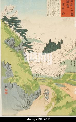 Mt. Yoshino, Cherry Blossoms M.71.100.96 - Stock Photo
