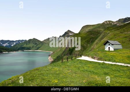Switzerland, Canton Ticino, Ritom-Piora - Stock Photo