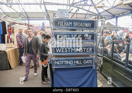 People Shopping in Greenwich Market, London, England, UK - Stock Photo