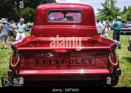 1950 Chevrolet Pickup, Antique Car Show, Sully Historic Site, Chantilly, Virginia - Stock Photo
