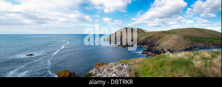 Kellan Head at Port Quin on the North Cornwall Coast - Stock Photo