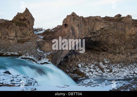 Godafoss waterfall, Iceland, Polar Regions - Stock Photo