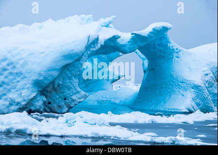 Iceberg in the Antarctic waters, Enterprise Island, Antarctica, Polar Regions - Stock Photo