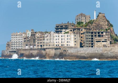 Hashima Island Gunkanjima (Warship Island), Nagasaki, Kyushu, Japan, Asia - Stock Photo