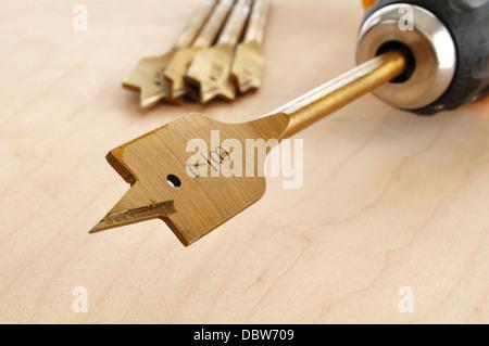 Wood drill bit - Stock Photo