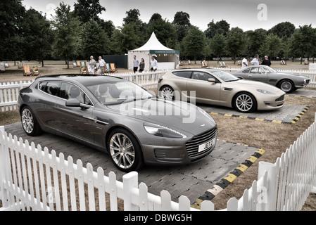 Aston Martin Bertone Jet concept cars on display at the Aston Martin centenary show Kensington Gardens London July - Stock Photo
