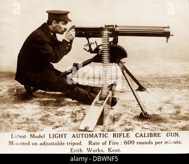 Machine Gun WW1 - Stock Photo