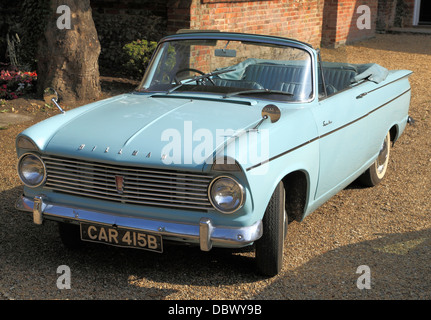 Hillman Super Minx, 1960s vintage motor car, British classic cars vehicles Hillmans, convertible convertibles, England - Stock Photo