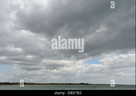 Cumulonimbus clouds over the Solent, Hampshire, England UK - Stock Photo