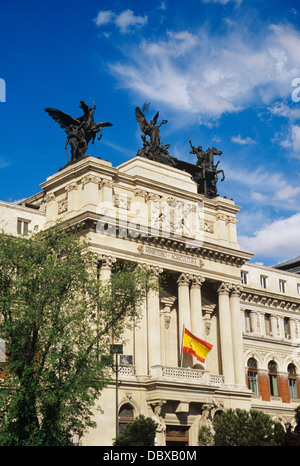 MADRID SPAIN MINISTRY OF AGRICULTURE BUILDING - Stock Photo
