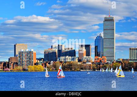 Boston, Massachusetts Skyline at Back Bay district. - Stock Photo