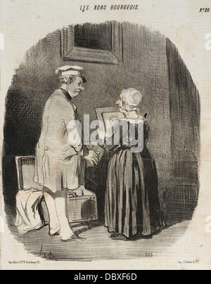 Tiens, ma femme, v'la mon portrait au Daguerreotype... M.60.19.31 - Stock Photo