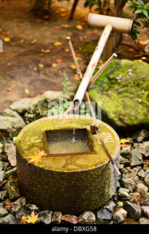 Basin for hand washing in Kyoto, Japan. - Stock Photo