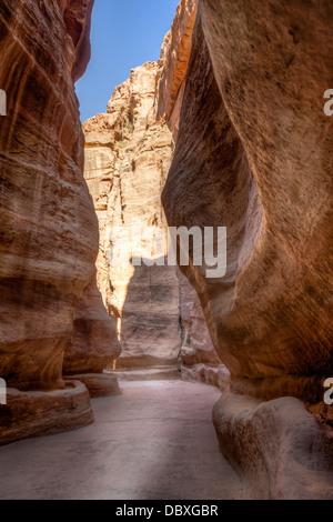 Al-Siq,  Petra in Jordan - Stock Photo