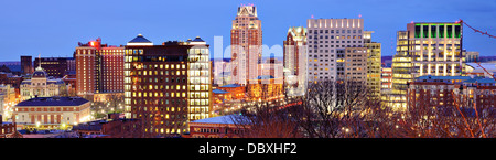 Panorama of downtown Providence, Rhode Island. - Stock Photo
