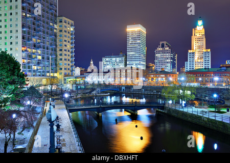 Downtown Providence, Rhode Island, USA. - Stock Photo