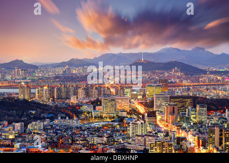 Downtown Seoul, South Korea, USA. - Stock Photo