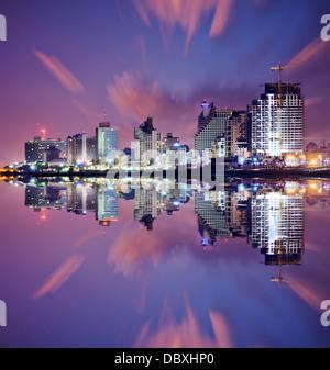 Tel Aviv, Israel high rise resort skyline. - Stock Photo