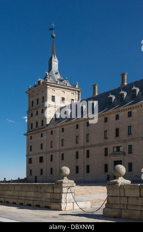 North-east tower, Monastery of San Lorenzo de El Escorial, Spain. - Stock Photo
