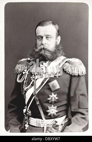 Mikhaïl Skobelev (1843 - 1882), russian general. - Stock Photo