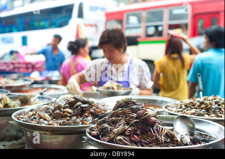 Food stall on the street in Bangkok, Thailand - Stock Photo