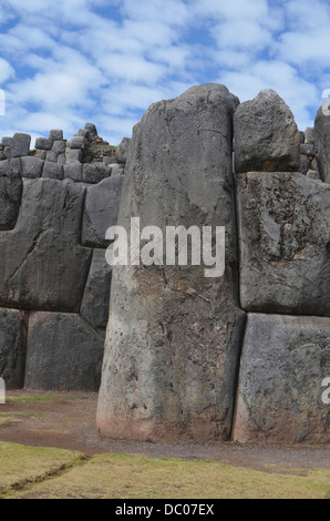 giant stone walls at the inca site of sacsayhuaman cuzco. Black Bedroom Furniture Sets. Home Design Ideas