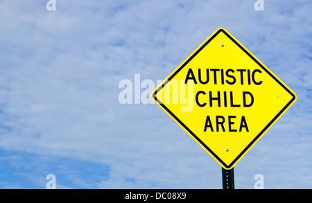 Autistic child sign - Stock Photo
