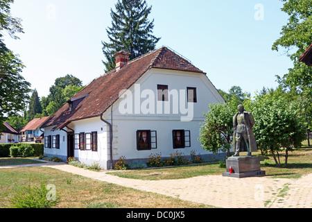 Birth house of Josip Broz Tito, first president of Yugoslavia in Kumrovec - Stock Photo