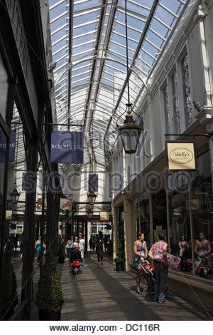 Royal Arcade in Cardiff city centre - Stock Photo
