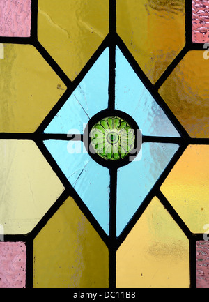 Detail from stained glass window - Stock Photo