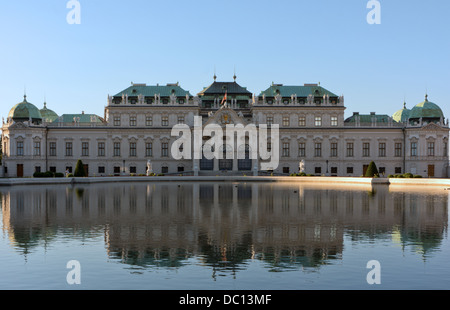 Baroque palace on the Belvedere complex in Vienna, Austria. - Stock Photo