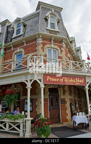 Beautiful and historic Prince of Wales hotel in Niagara-On-The-Lake, ON, Canada. - Stock Photo