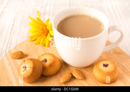 Homemade cookies (biscuits) and coffee - Stock Photo
