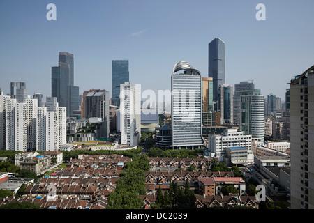 High angle view of Shanghai city, China